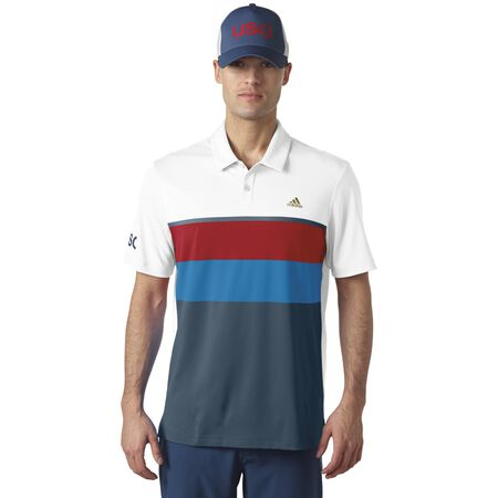 climacool®  USA Engineered Stripe Polo