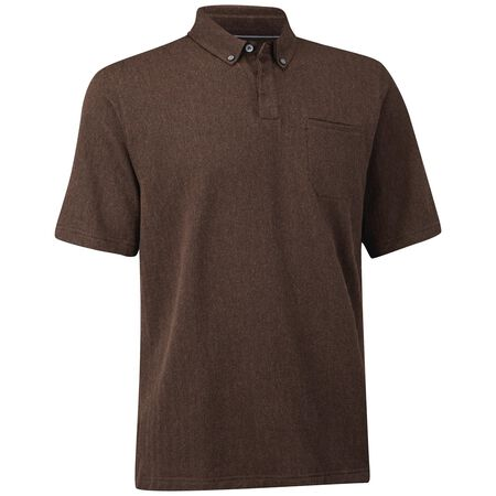 Cotton Herringbone Pocket Polo