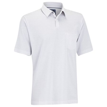 Pique Stripe Pocket Golf Shirt