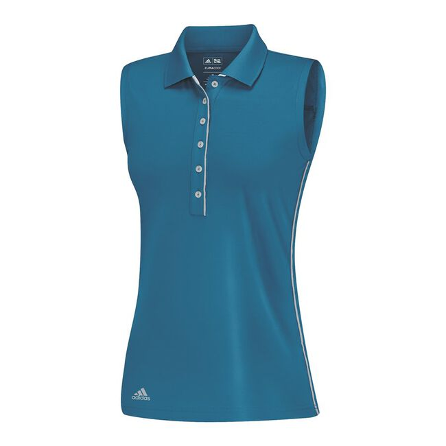 Puremotion 3-Stripes Piped Sleeveless Polo