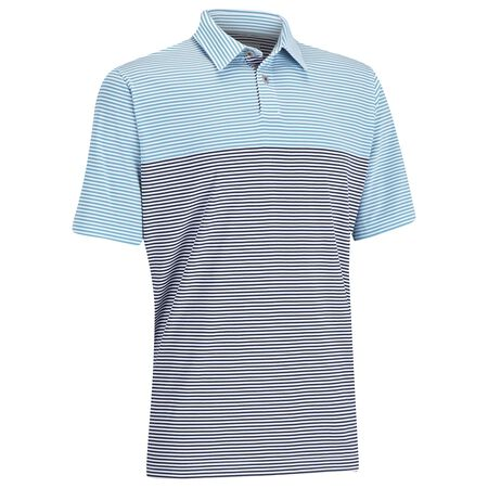 EZ-SOF Blocked Stripe Golf Shirt