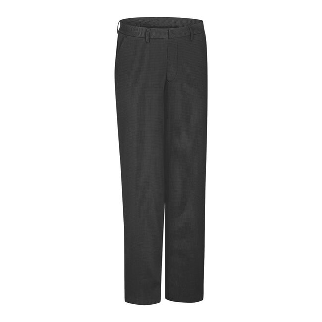 Microfiber Mini Check Flat Front Trouser