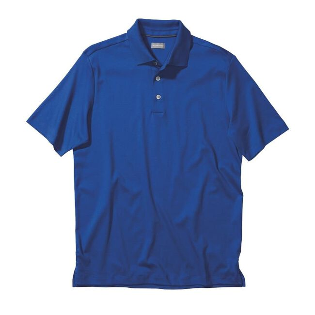 Signature Solid Cotton Interlock Golf Shirt