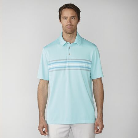 Stretch Pique 2-Tone Chest Stripe Polo