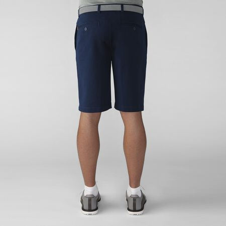 Solid Cotton Stretch Flat Front Twill Short