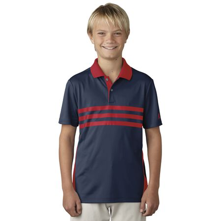 Boys 3-Stripes Chest Print Polo