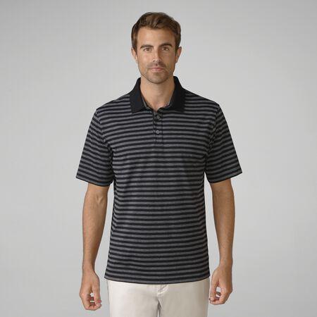 Heather Slub Stripe Golf Shirt