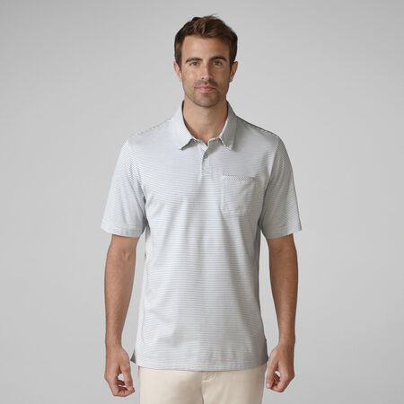 Jersey Mini Stripe Pocket Golf Shirt