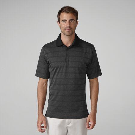 Plaited Double Knit Stripe Golf Shirt