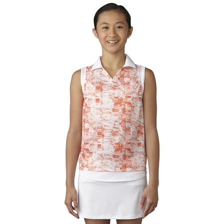 Printed Sleeveless Polo