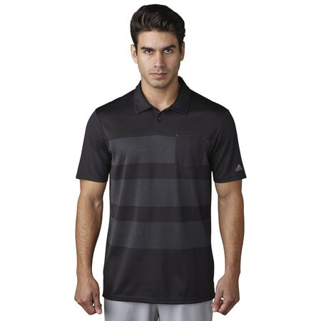 climacool Engineered Heather Stripe Polo