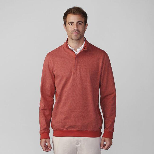 Heathered Stripe Half Zip Pullover