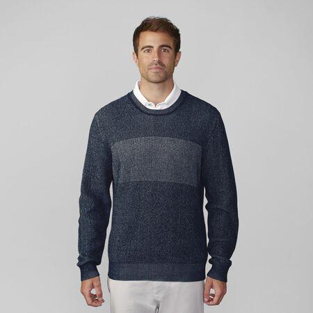 Pima Cotton Plaited Crewneck Sweater