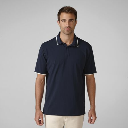 PRIMATEC Cotton Linen Piped Golf Shirt