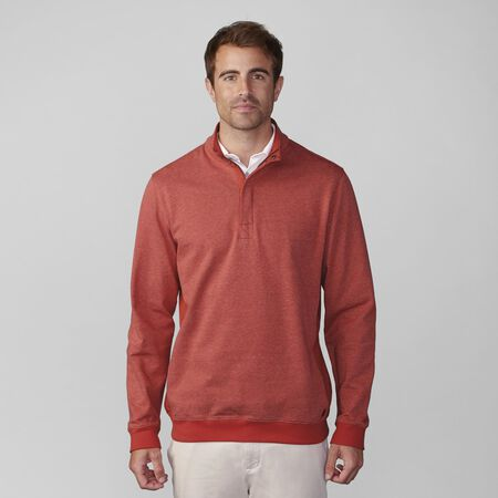 Heathered Stripe Half Zip Pullover
