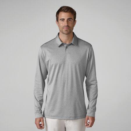 Matte Interlock Long Sleeve Solid Golf Shirt