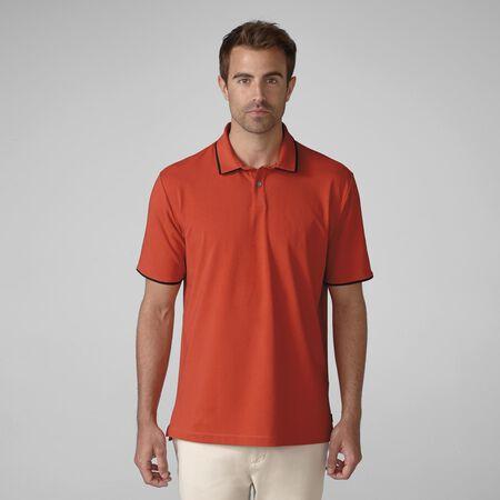PRIMATEC Cotton Linen Piped Golf Shirt