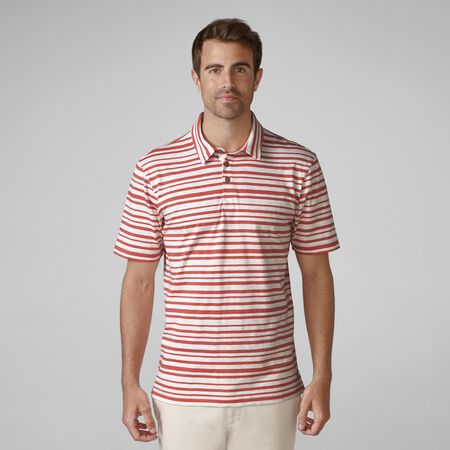 Printed Slub Stripe Golf Shirt