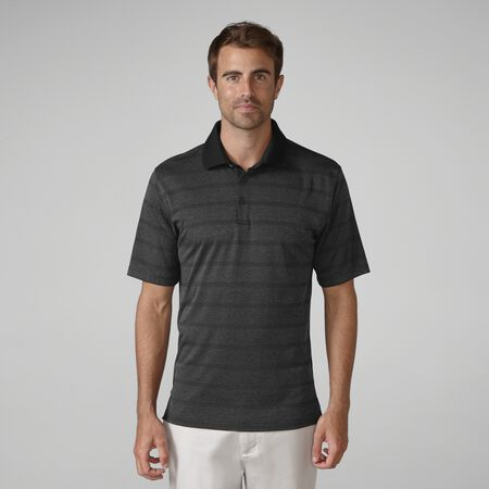 Plaited Double Knit Stripe Golf Shirt