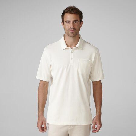 PRIMATEC Pique Solid Novelty Rib Collar Shirt