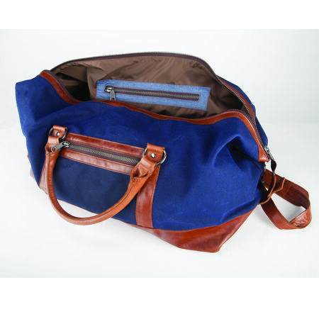 Waxed Canvas and Leather Duffle Bag