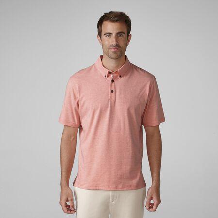 Sanded Jersey Mini Stripe Golf Shirt