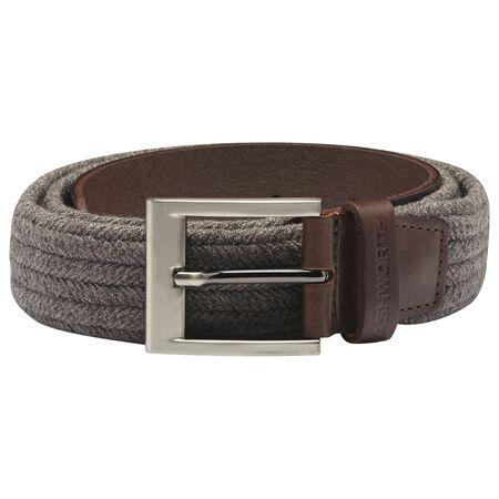 Cotton Weave Leather Belt