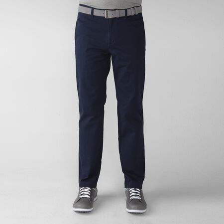 Solid Cotton Stretch Flat Front Twill Pant