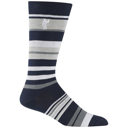 Multi Stripe Crew Sock