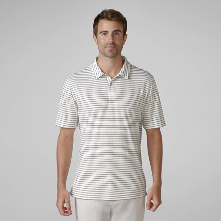 Sanded Pima Interlock Heather Stripe Golf Shirt