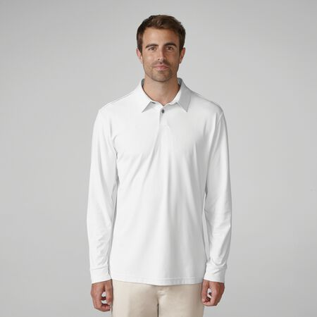 Matte Interlock Long Sleeve Solid Golf Shirt