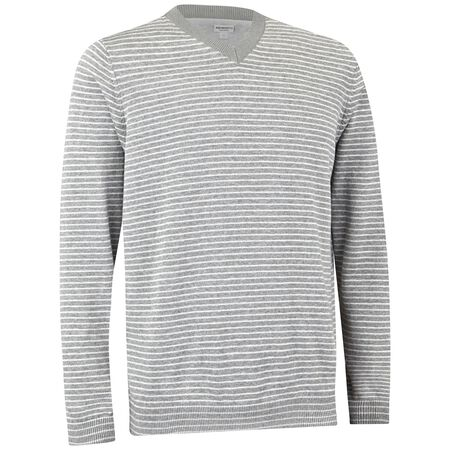 Pima Stripe V-Neck Sweater