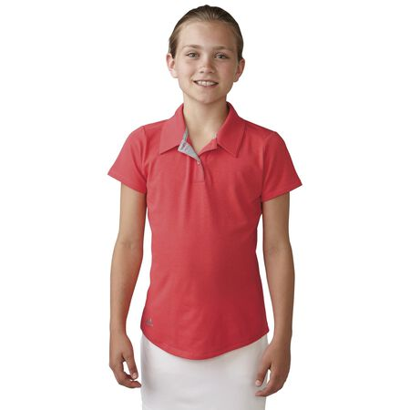 Girls Climalite Essentials Heatherd Polo