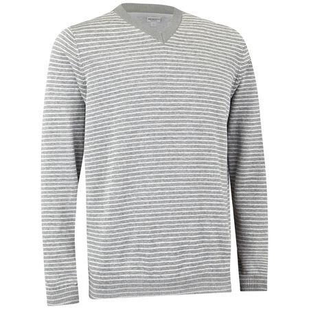 Pima Stripe V-Neck Sweater