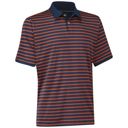 Matte Interlock Stripe Polo