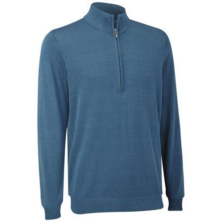 Pima Half Zip Sweater