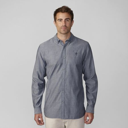 Double Faced Pima Chambray Woven Shirt