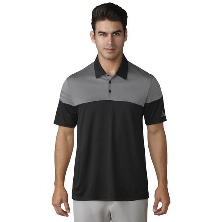 adidas 3-STRIPES HEATHER BLOCK POLO