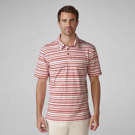 Printed Slub Stripe Golf Shirt
