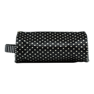 Bolsa Cosmetiquera Negra con Lunares Blancos, , hi-res