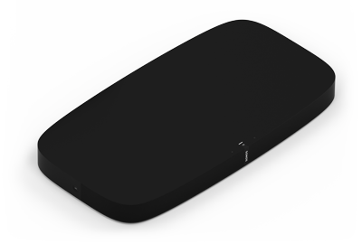 Vista frontal de Sonos PLAYBASE en negro