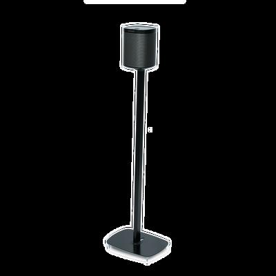 Sonos PLAY:1 montado en el soporte de suelo Flexson en negro