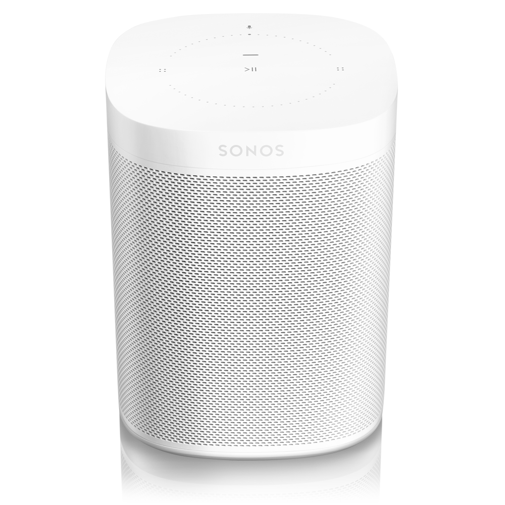 Introducing One: the voice-controlled smart speaker for music lovers, powered by Alexa and available only from Sonos. Comes in White and Black. Sonos One blends great sound with Amazon Alexa, the easy-to-use voice service, for hands-free control of your music and more. Use your voice to play songs while you cook. Tell Alexa to turn the volume up while you�re in the shower. You can even request a lullaby, out loud, when you�re tucking in the kids.