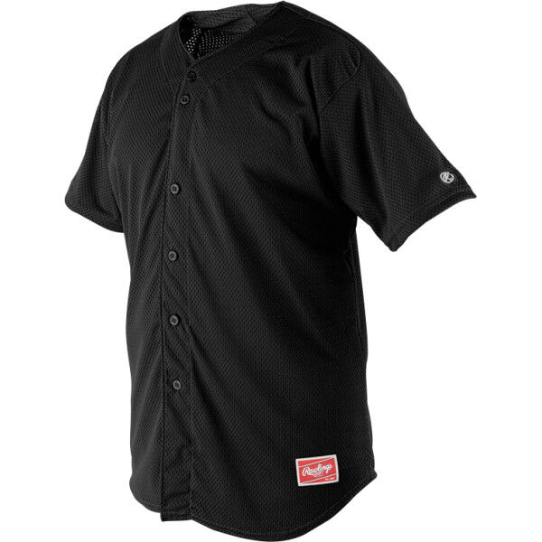 Adult Short Sleeve Jersey Black