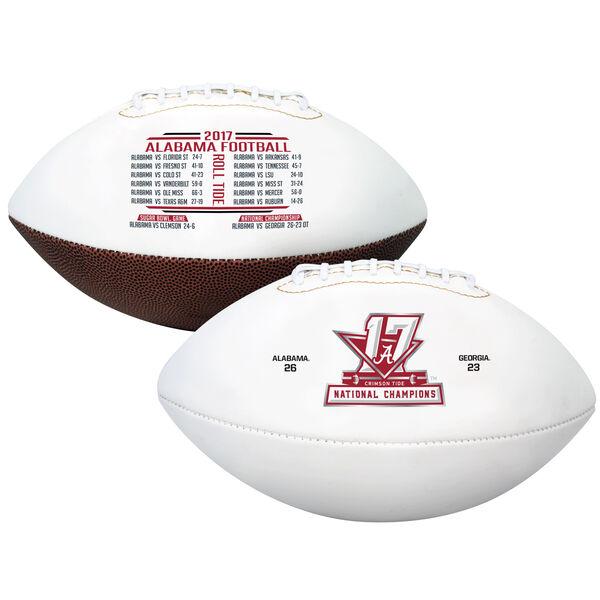 2017 College Football National Champions Alabama Crimson Tide Full Sized Football