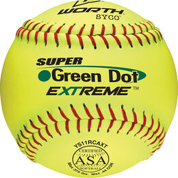 ASA 11 in Green Dot Softballs (YS11RCAXT)