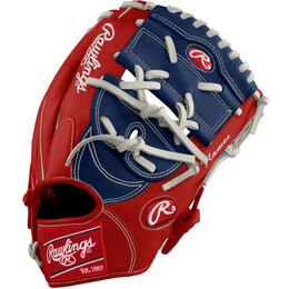 White/Red/Navy Custom Glove
