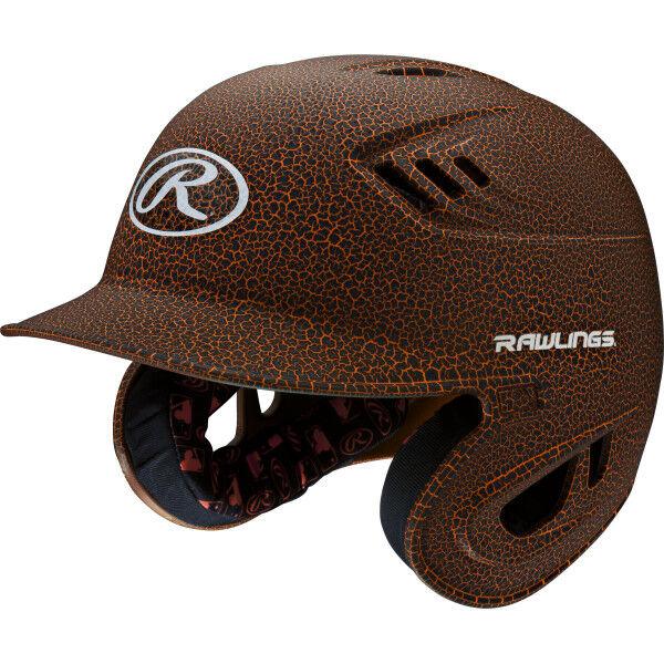 Velo Senior Batting Helmet Black/Neon Orange
