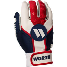 Adult Red-White-Blue Batting Glove