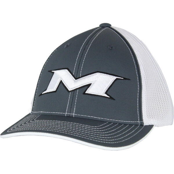 Adult Charcoal-White Mesh Hat